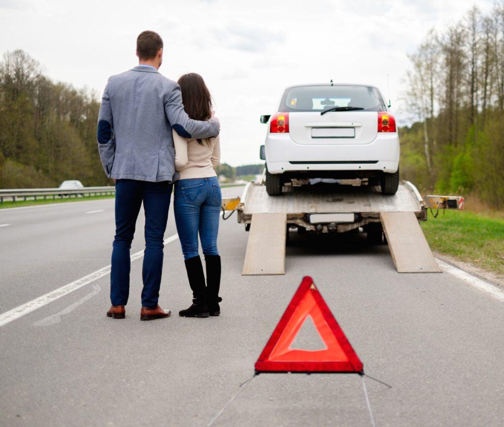 auto in panne autostrada