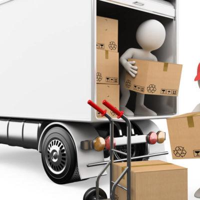 caricare furgone trasloco